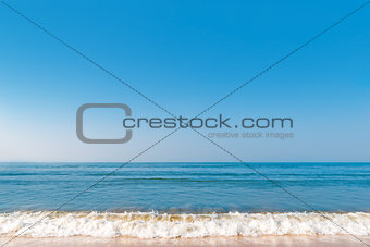 beautiful background with a view of a sea wave