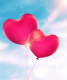 Heart Shaped Balloons Abstract