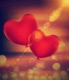 Heart Shaped Balloons Grunge