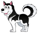 Husky dog theme image 1