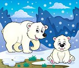 Polar bears theme image 3