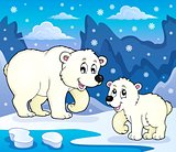 Polar bears theme image 4