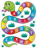 Snake with alphabet theme image 1