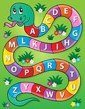 Snake with alphabet theme image 2