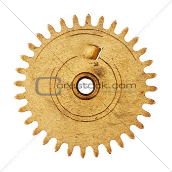 Old clockwork gear