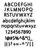 Grunge brushed alphabet