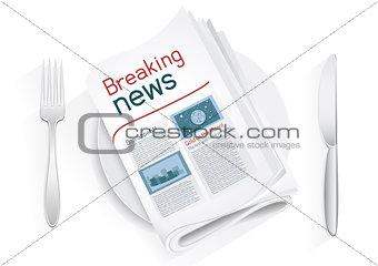 breaking news tablewares