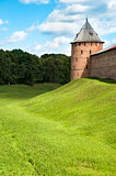 Novgorod fortress with guard towers