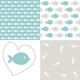 Seamless fish patterns