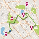 Vector city map navigation