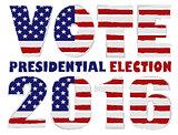 Vote 2016 USA Presidential Election Illustration