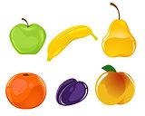 Six fruits set