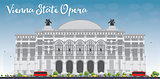 Vienna State Opera. Vector illustration.