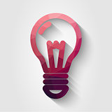 Flat polygonal bulb icon