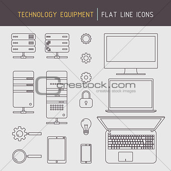 Flat line technology equipment