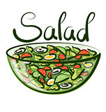 Vector Green Salad