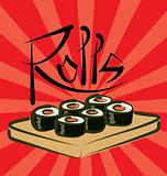 Vector Sushi Rolls