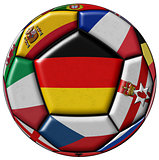 Soccer ball with flag of Germany in the center