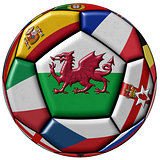 Ball with flag of Wales in the center