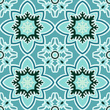 Seamless retro patterns blue