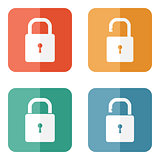 Lock icons: open and closed
