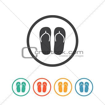 Flip flops icon. Vacation symbol.