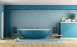 Blue modern bathroom