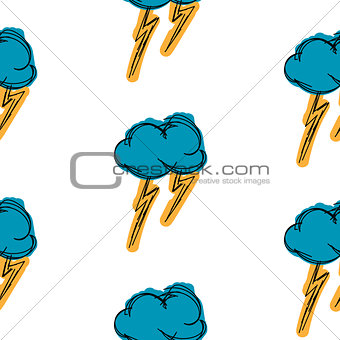 Thundercloud painting is painted simple background seamless pattern