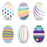Easter day  for egg isolated on vector design. Colorful Chevron pattern for eggs. Colorful egg isolated on white background.