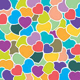 Heart pattern background. Colorful heart background. Vector Valentine's Day. Vector wedding Day. Heart of holiday