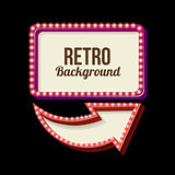 Vintage Night 3D advertising sign