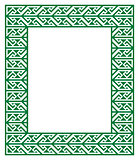 Celtic Key Pattern - green frame, border