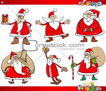 santa on christmas time set