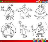 santa on christmas coloring book