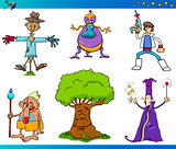 fantasy cartoon characters set