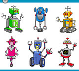 robot characters cartoon set