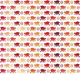Red Monkeys seamless pattern