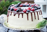 Delicious homemade cake with fresh berries