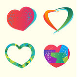 Vector hearts set.