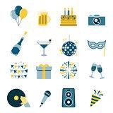 Celebration Icons Flat