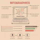 infographic with laptop and design elements