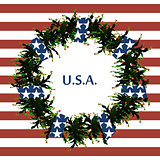 USA flag symbols. Abstract background with the symbols of the United States. USA flag.