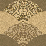 vector seamless Greek round ornament, Meander