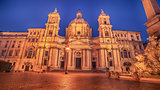 Rome, Italy: Piazza Navona, Sant'Agnese in Agone Church