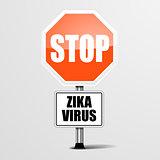 RoadSign Stop Zika