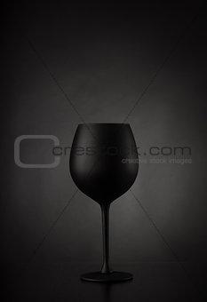 Black glass of wine