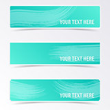 Green vector banners
