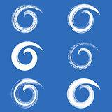 Vector brush strokes spirals