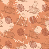 Coffee seamless pattern.