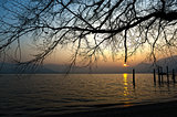 Sunset on the Lake Major, Italy